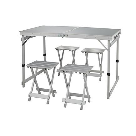 Magellan Outdoors Family Table And Stools Set Academy Camping Table Table Fold Out Table