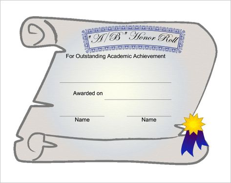 9+ Printable Honor Roll Certificate Templates u2013 Free Word, PDF - certificate sample in word