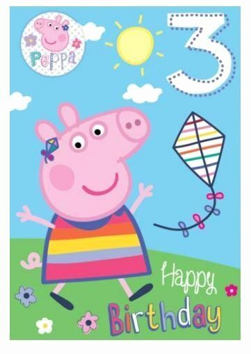 Peppa Pig Birthday Card Best Of Peppa Pig Yippee You Re 3 Today 3rd Birthday Card Badge Gift Peppa Pig Birthday Pig Birthday George Pig Birthday