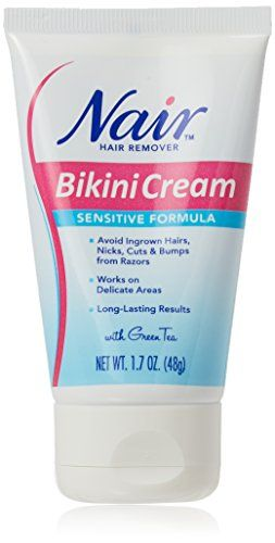 Nair Hair Remover Bikini Cream Sensitive 1 7 Ounce 50ml 2 Pack Hair Removal Hair Cream Ingrown Hair