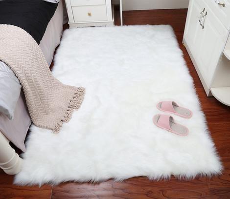 Faux Fur Rug Calimubry White Faux Fur Rug Fur Rug Bedroom Faux Fur Rug