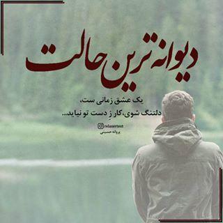 دیوانه ترین حالت یک عشق زمانی ست دلتنگ شوی کار ز دست تو نیاید پروانه حسینی Emotional Quotes Farsi Quotes Poems