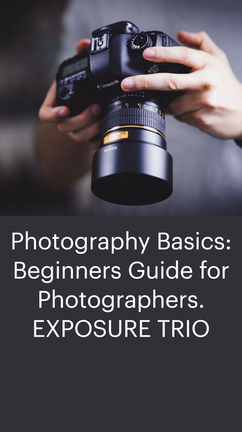 Photography Basics: Beginners Guide for Photographers. EXPOSURE TRIO