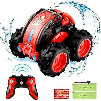 Advertisement Allcaca Amphibious Stunt Rc 1 24 Scale 7 5 Mph Red In 2020 Remote Control Cars Monster Trucks Rc Cars