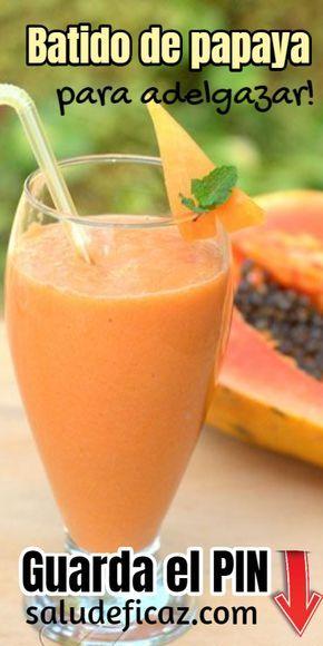 licuado de papaya baja de peso