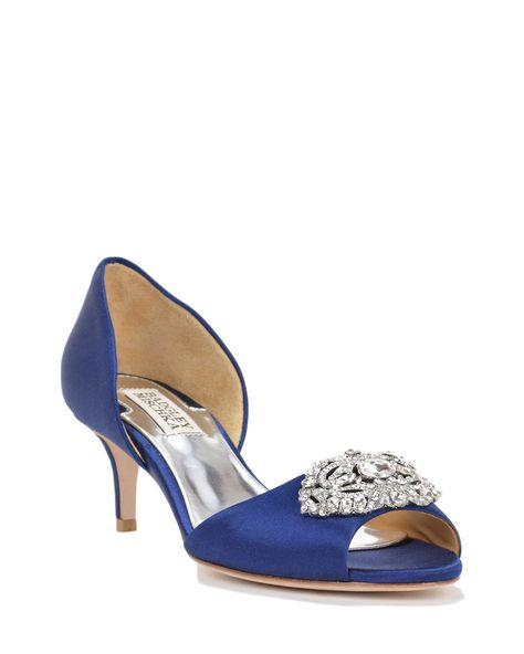 dda08da8dab7 Badgley mischka Petrina D orsay Decorated Evening Shoe in Blue (Navy)