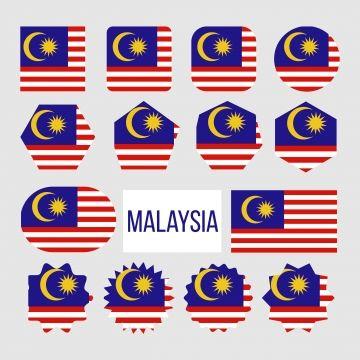 Gambar Ikon Penanda Bendera Malaysia Menetapkan Vektor Malaysia Bendera Koleksi Png Dan Vektor Untuk Muat Turun Percuma Icon Set Vector Malaysia Flag Icon Set