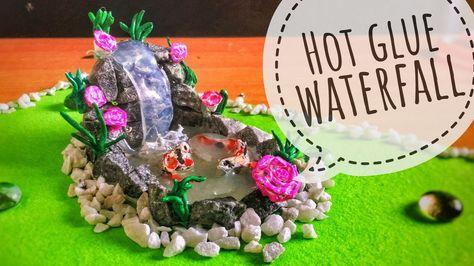 Diy Hot Glue Waterfall Tutorial Miniature Craft