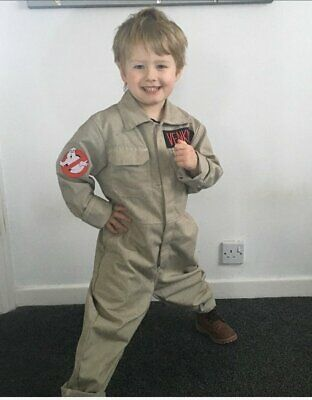 Ghostbuster/'s Deluxe /& Proton Pack Kids size M 8//10 Jumpsuit Costume Outfit