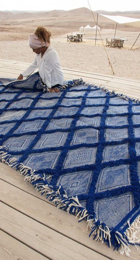 Image Of Moroccan Kilim Rug Diamond Pattern Flatweave 2 In 2020 Rugs On Carpet Moroccan Kilim Blue Rug