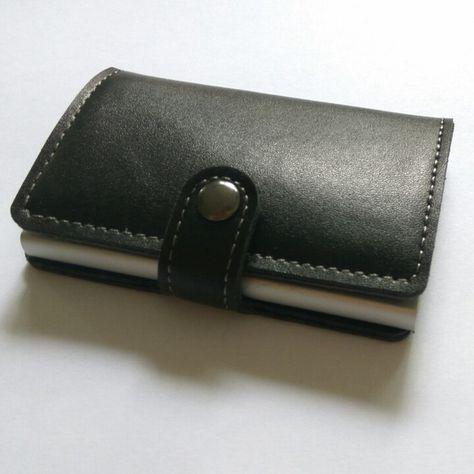1db15df1058 Antitheft Aluminium Rfid Card Wallet Slide Kaarthouders Creditcard Geval  Organisator PU lederen RFID Portefeuilles
