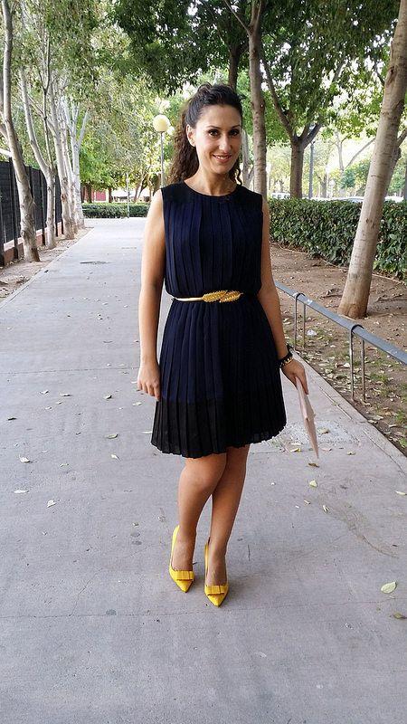 Vestido amarillo con dorado o azul con negro