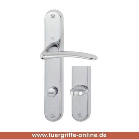 Türknauf für Haustür in poliertem Nickel Top Qualität Halbganitur  PZ-Beschlag