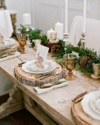 20 Awesome Travel Themed Wedding Ideas Christmas Table Decorations Christmas Table Settings Christmas Tablescapes