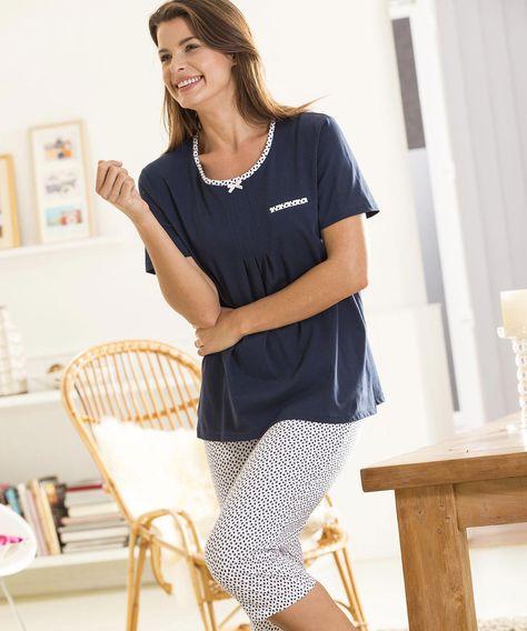 5cff6491a5e Tee-shirt de pyjama jersey fantaisie - Femme - Damart