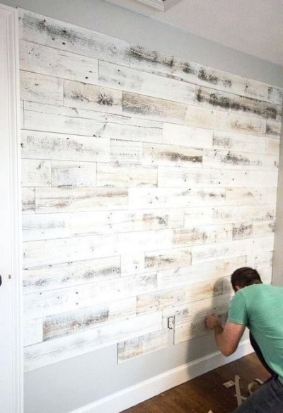 Peel And Stick Wood Wall Tiles Reclaimed Wood Accent Wall Accent Wall Bedroom Wood Accent Wall