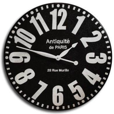 Rue Murillo Black Clock Large Wall Clock Wall Clock Clock