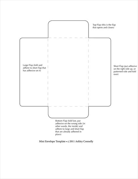 small envelope template - note the printed size does not match the - Small Envelope Template