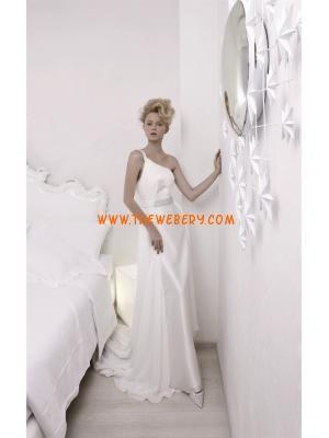 una spalla perline in chiffon abito da sposa spiaggia 2013