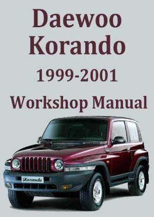 Daewoo Korando 1999 2001 Workshop Manual Manual Car Daewoo Repair