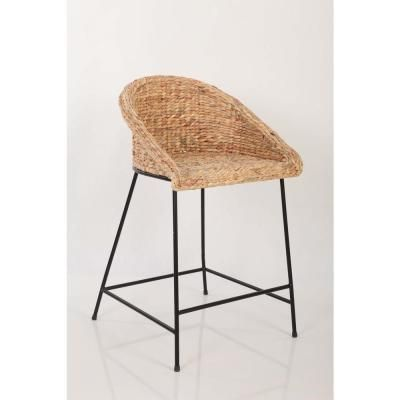 Stylewell Stylewell Black Metal Counter Stool With Back And