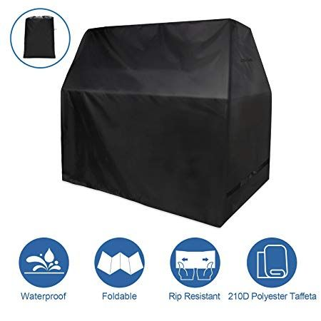 Yissvic Grill Cover Outdoor Patio 59 Wide Bbq Covers Water Resistant Air Vents Grill 210d Heavy Duty Cover M Review Grill Cover Bbq Cover Outdoor Patio