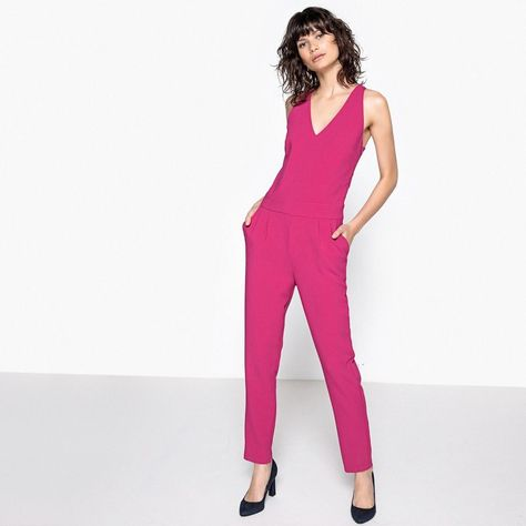 c7c4347b9702 Mademoiselle R Jumpsuit with Bow Detailed Back Fuchsia Size UK 10 DH083 PP  04  fashion  clothing  shoes  accessories  womensclothing  jumpsuitsrompers  (ebay ...
