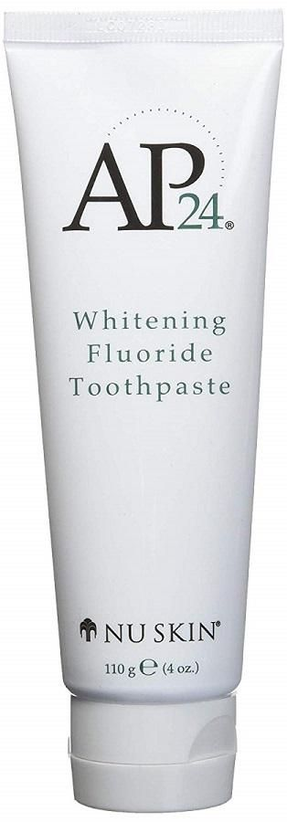 AP 24® Whitening Fluoride Toothpaste lightens teeth without peroxide while preventing cavities and plaque formation. This gentle, vanilla mint formula freshens breath and provides a clean, just-brushed feeling that lasts all day. Brightens and whitens teeth. Helps remove stains. Helps remove and prevent plaque buildup. Helps the prevention of dental cavities. Provides a long-lasting smooth, clean, and fresh feel. Features AP-24, an exclusive ingredient. Refreshing, trademark vanilla mint flavor.