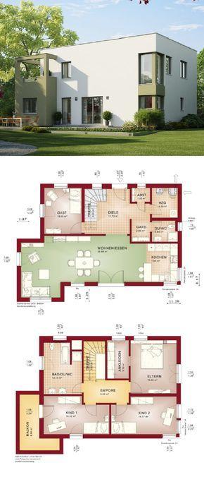 Einfamilienhaus mit Bauhaus Architektur - Haus Evolution 148 ...