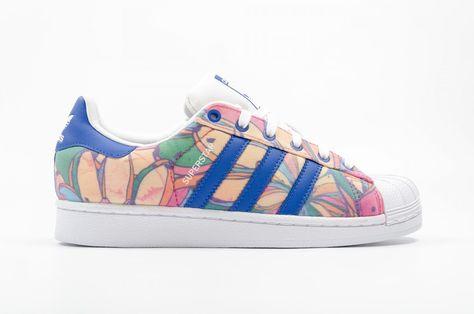 Adidas Superstar Skateboard Skor Pouring Multicolor Adidas