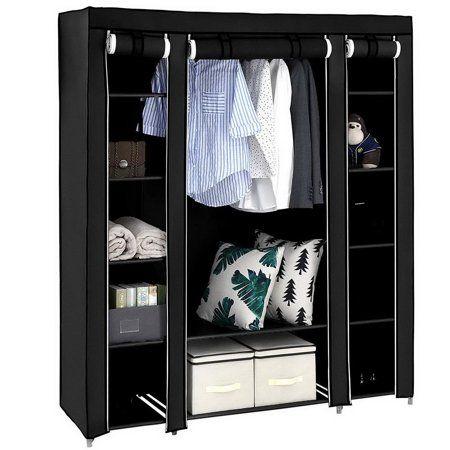 Ktaxon Portable Clothes Closet Non Woven Fabric Wardrobe Storage