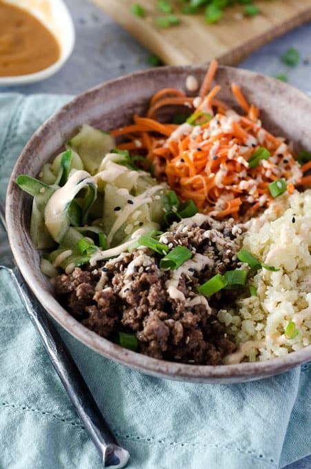 Ground Beef Bulgogi Bowls With Spicy Aioli Recipe Bulgogi Beef Bulgogi Ground Beef