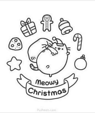 Pin By Julissa M On Pusheen Cat Pusheen Coloring Pages Christmas Coloring Pages Hello Kitty Colouring Pages