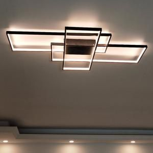 Rectangle Modern Aluminum Led Ceiling Lights Ac85 265v In 2020 Modern Light Fixtures Bedroom Light Fixtures Living Room Light Fixtures