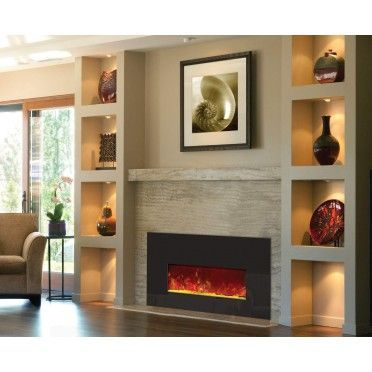 Amantii Insert 26 3825 Electric Fireplace Insert With Black Glass