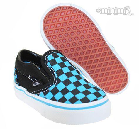 Vans Classic Slip-On - Baskets Enfant (Toddler) - Noir et bleu ...