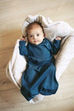 100/% natural merino wool Long Sleeve Baby Gown sleep bag grobag