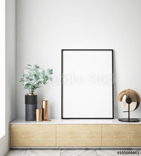 Mock Up Poster Frame In Interior Background Scandinavian Style
