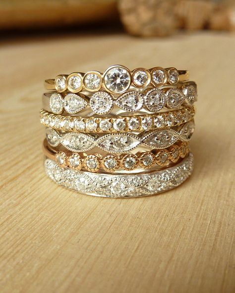 Dudee Gold-color Ring with 224 Pieces engagement rings