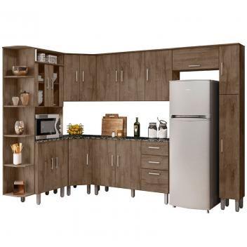 Cozinha Compacta Com Tampo 8 Pecas Suica Poliman Moveis Magazine