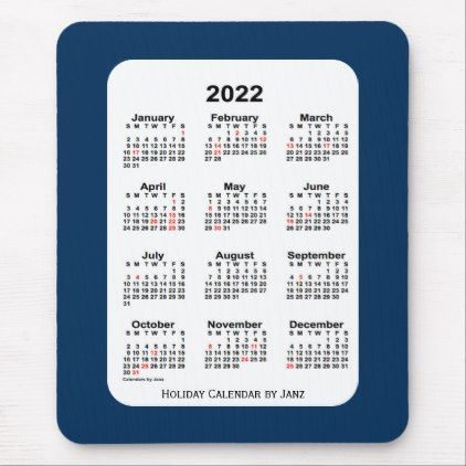 2022 Holiday Police Box Blue Calendar By Janz Mouse Pad Zazzle Com Holiday Calendar Blue Calendar Calendar