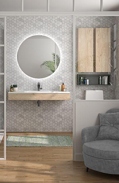 meuble de salle de bain compact de Cedam - bandeau hydrofuge ...