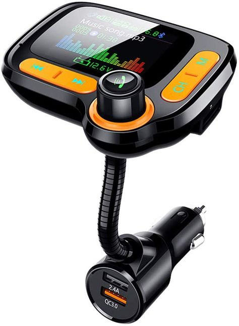 Bluetooth FM Transmitter for CarquotTFT Color Screen Wireless FM Radio Adapter Car Kit Hands Free US, Amazon Affiliate link. Click image for detail, #Amazon #bluetooth #fm #transmitter #carquottft #color #screen #wireless #radio #adapter #car #kit #hands #free #usb #ports #qccharger #aux #input #tf #card #drive #mpplayermpplayersampaccessories #calling #makes #driving #safer #important #call #drivingone