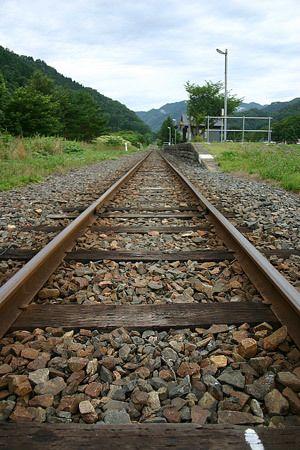 朝 岩手和井内駅にて 11 鉄道 写真 駅 線路