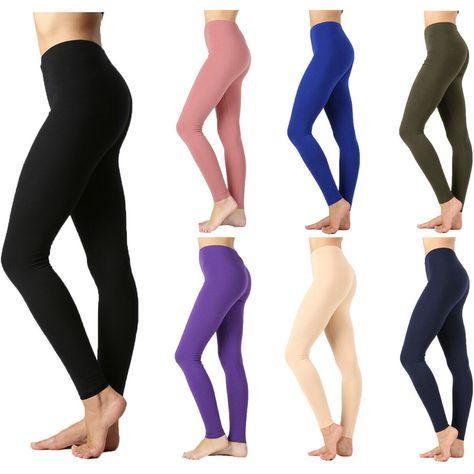 CordiU Basic Long Leggings Full Length Active High Rise Yoga Casual Regular S~3X