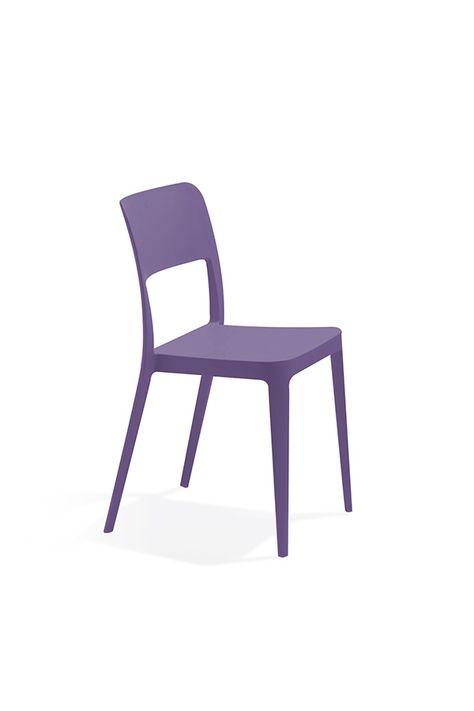 Sedia Per Esterni Oxford Lilla Sedia In Polipropilene Di Colore