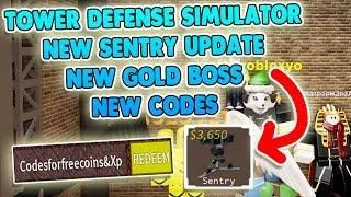 Sentry New Secret Codes Tower Defense Simulator Codes Roblox Tower Defense Roblox Coding