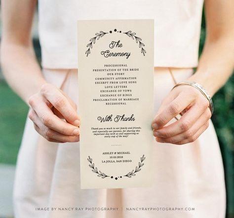 printable wedding programs template printable programs rustic