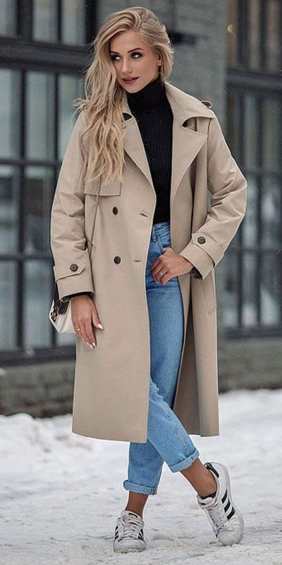 Winter Coat Outfits Trendy Fashion, Can A Trench Coat Be Worn In The Winter