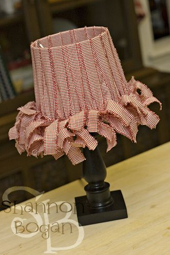43 best pantallas de veladores vintage images on pinterest lamp how to make a country style fabric scrap lampshade using strips of fabric and a lampshade frame shannon bogan keyboard keysfo Gallery